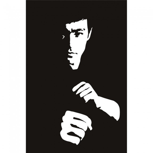 bruce lee martial arts icons celebrities wall stickers. Black Bedroom Furniture Sets. Home Design Ideas