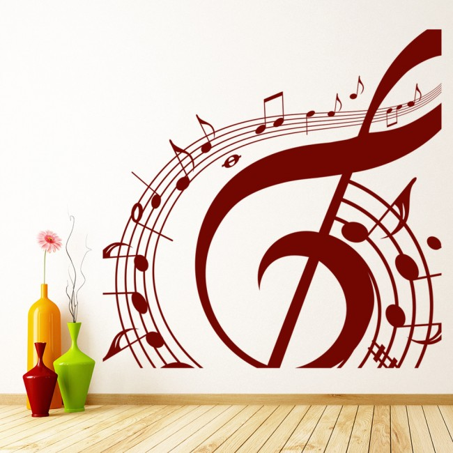 musical note wall sticker music wall art removable music is not musical notes room decor art vinyl