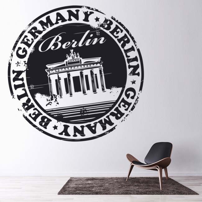 Berlin Germany Named Badge Rest Of The World Wall Stickers