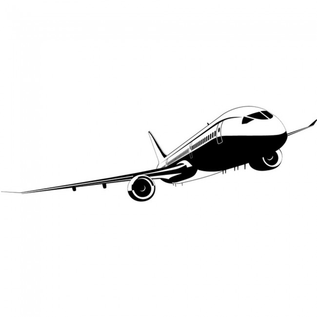 passenger plane commercial airliner aeroplanes wall aeroplane front wall stickers airplane wall art