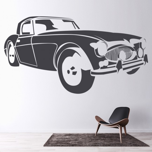 Vintage Auto Wall Decor : Austin healey vintage retro classic car wall stickers