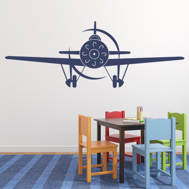 Aeroplane front wall stickers airplane wall art for Aeroplane wall mural