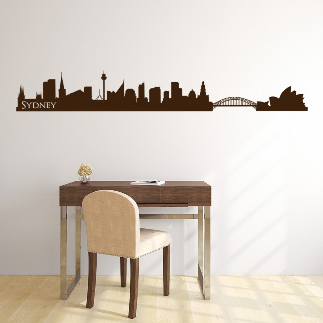 Sydney australia skyline rest of the world wall stickers home decor art decals Home decor wall decor australia