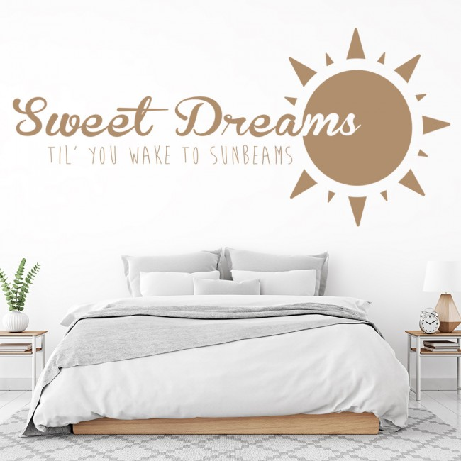 sweet dreams wall sticker quotes wall art mirrored sweet dreams wall decals wall decals san