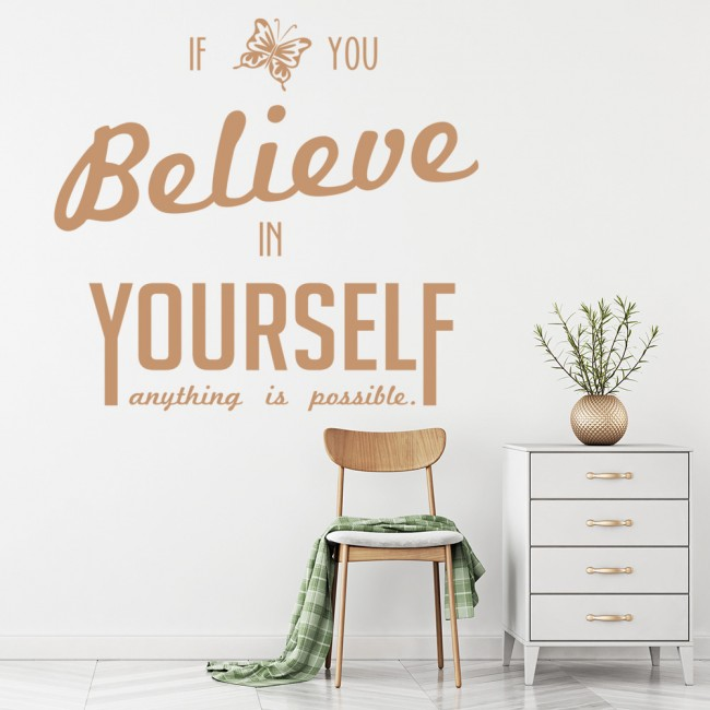 believe in you life and inspirational quote wall stickers
