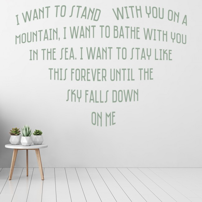Savage garden truly madly deeply song lyrics wall stickers music decor art decal song lyrics I want you savage garden lyrics