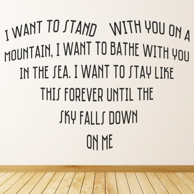 Savage Garden Truly Madly Deeply Song Lyrics Wall Stickers Music Decor Art Decal Song Lyrics