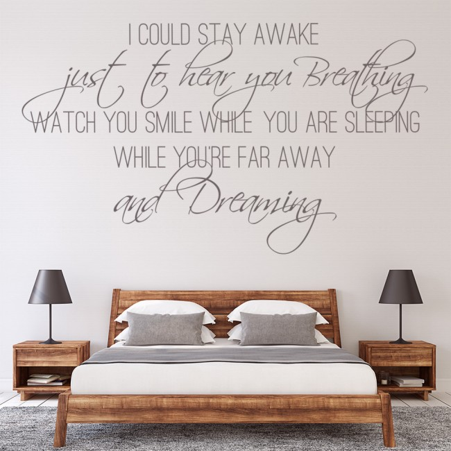 Wall Art Stickers Song Lyrics : Aerosmith wall stickers lyrics art