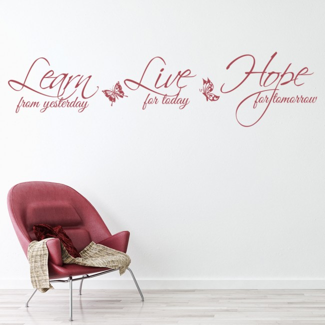 learn live hope life and inspirational quote wall stickers