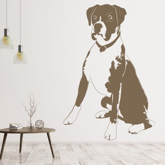 boxer dog wall art dog wall sticker dogs removable fabric wall stickers