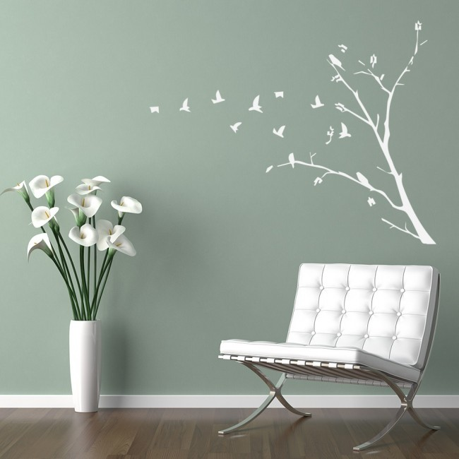 flying birds silhouette wall sticker nature wall art bird wall stickers