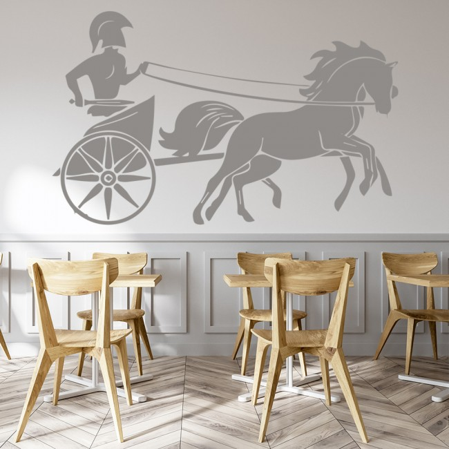 Gladiator chariot wall sticker roman wall art for Wall stickers roma