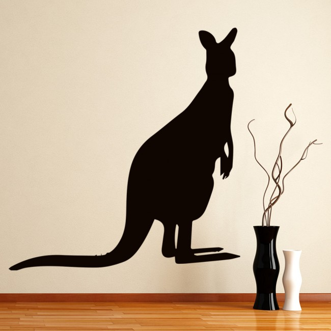 Kangaroo silhouette wall sticker animal wall art Home decor wall decor australia