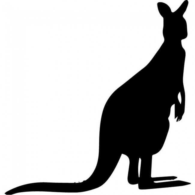 kangaroo silhouette wall sticker animal wall art australian animals removable wall stickers classroom