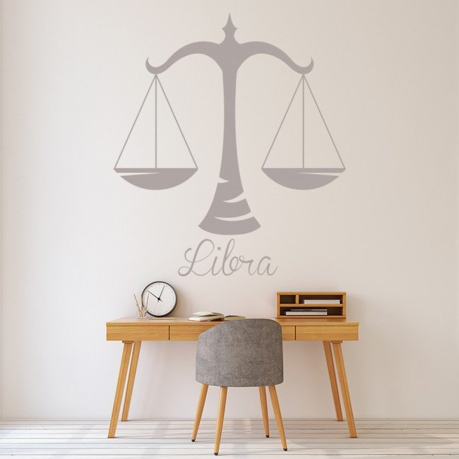 libra scales wall sticker zodiac wall art libra home decor for the judge in the family funk this