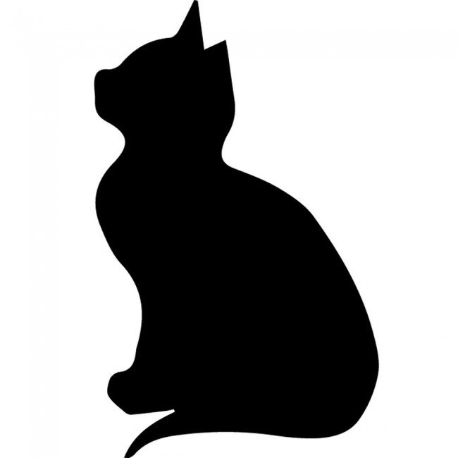 Kitten silhouette wall sticker creative multi pack wall decal art