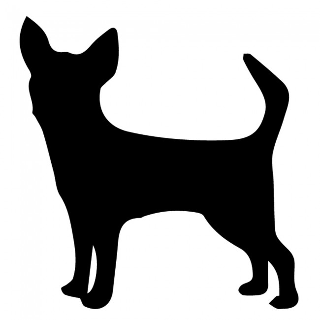 Chihuahua Silhouette Wall Stickers Creative Multi Pack ...