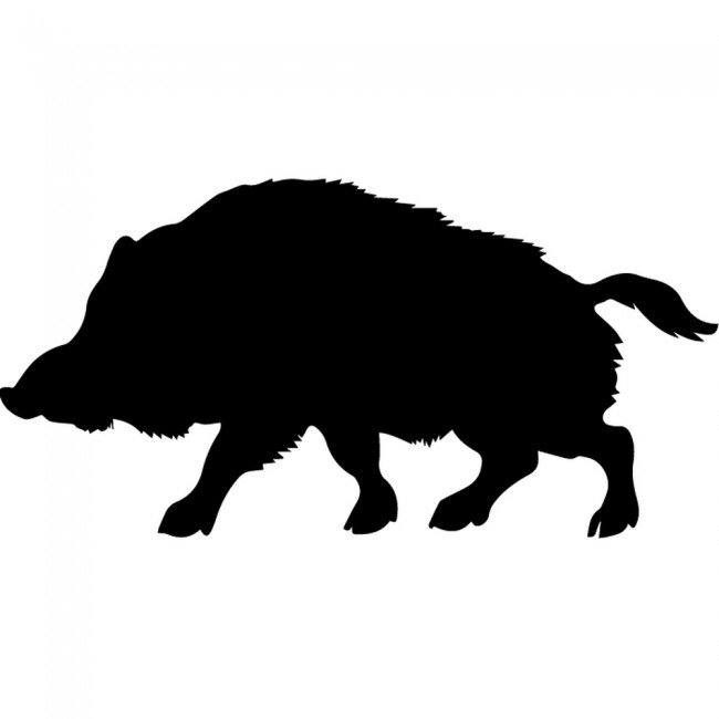 Wild Boar Silhouette Wall Sticker Creative Multi Pack Wall