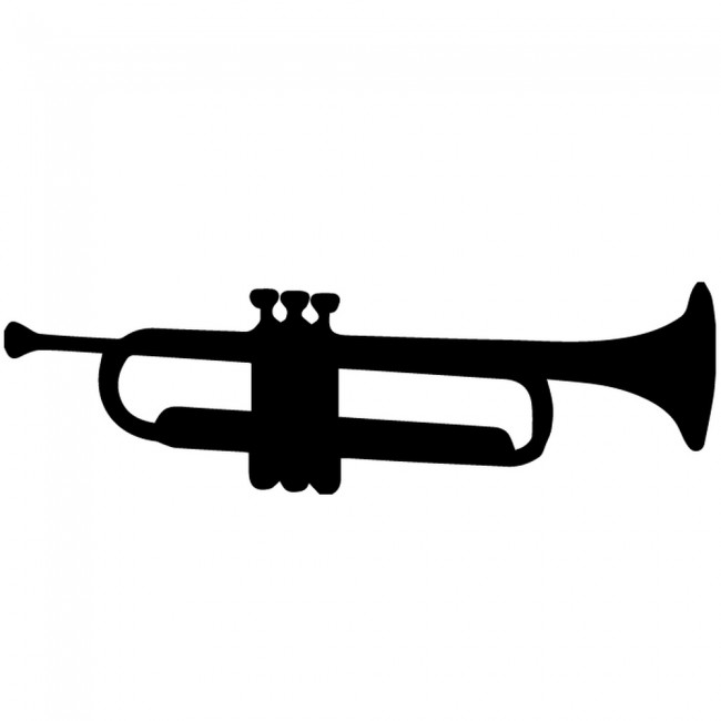 Trumpet Silhouette Wall Stickers Creative Multi Pack Wall Decal Art
