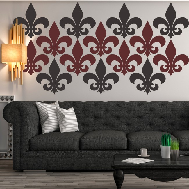 fleur de lis simple silhouette wall sticker creative multi fleur de lis wall decals amp wall stickers zazzle