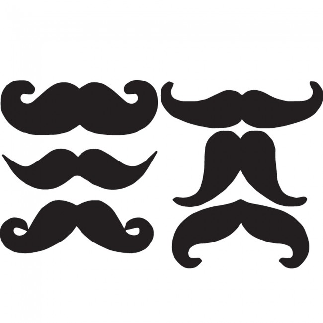 moustache silhouette group wall sticker creative multi bowler hat moustache wall stickers by the binary box