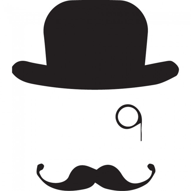 Top Hat And Monocle Wall Sticker Creative Multi Pack Wall ...