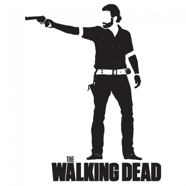 Rick grimes wall sticker the walking dead wall art for Mural walking dead