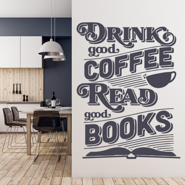 drink good coffee wall sticker inspirational quotes wall art