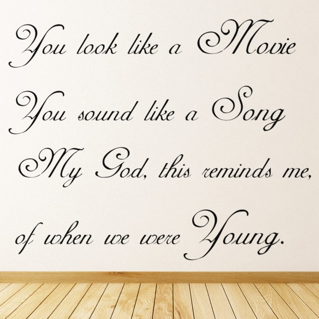 When We Were Young: When We Were Young Adele 25 Song Lyrics Wall Sticker Music