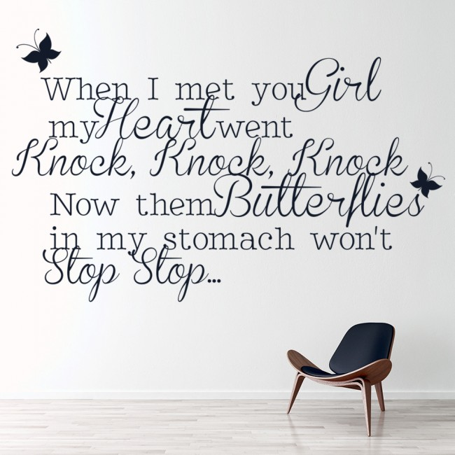 one time justin bieber butterfly song lyrics wall sticker look at the stars coldplay song lyrics decal vinyl wall