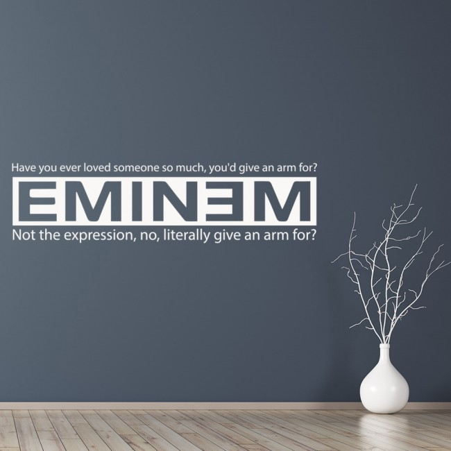Have you ever loved someone when i 39 m gone eminem wall for Eminem wall mural