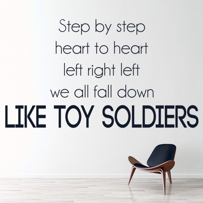Like toy soldiers eminem song lyrics wall stickers music for Eminem wall mural