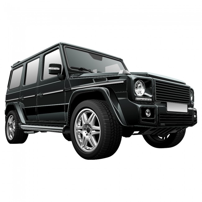 Black Jeep Vehicle Transport Colour Wall Sticker Home Art