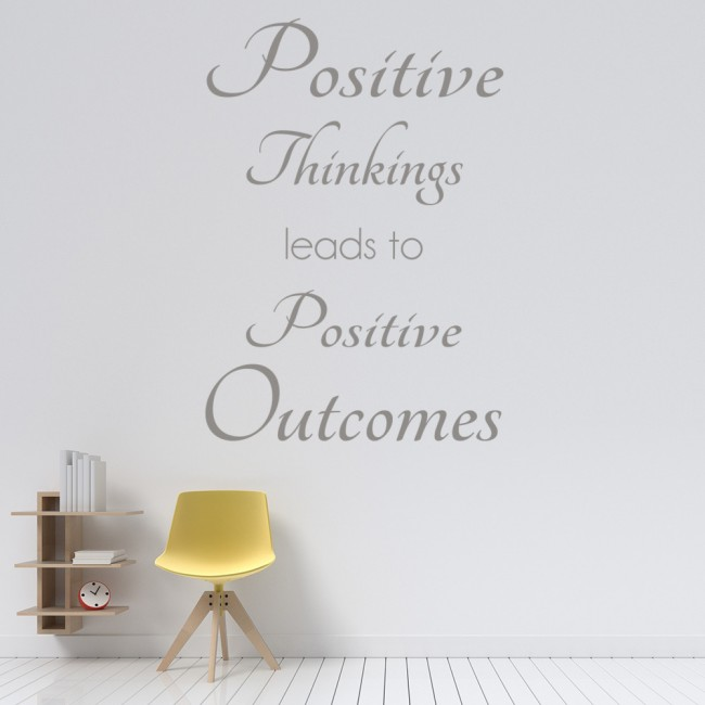 positive thinkings inspirational quotes wall sticker home