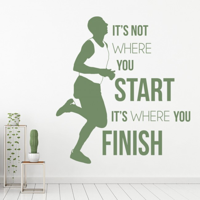 it 39 s not where you start inspirational quotes wall sticker