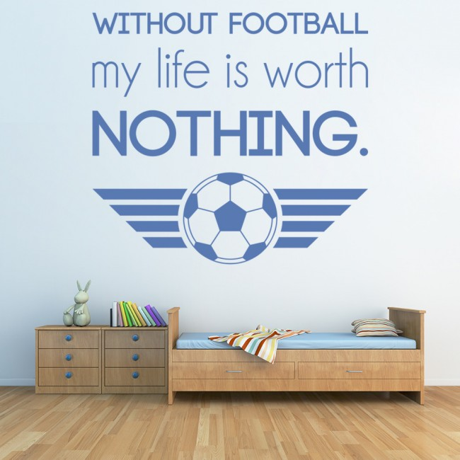 without football inspirational quotes wall sticker sports