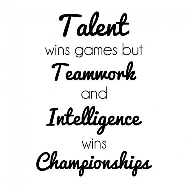 teamwork wins inspirational sports quotes wall sticker