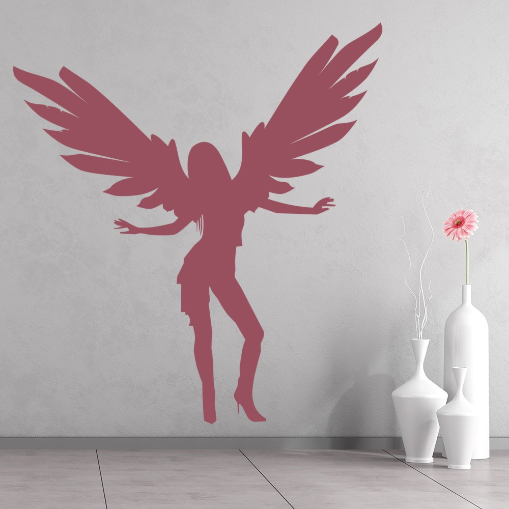 Angel wall art scunthorpe angel wings wall stickers for Angel wall decoration