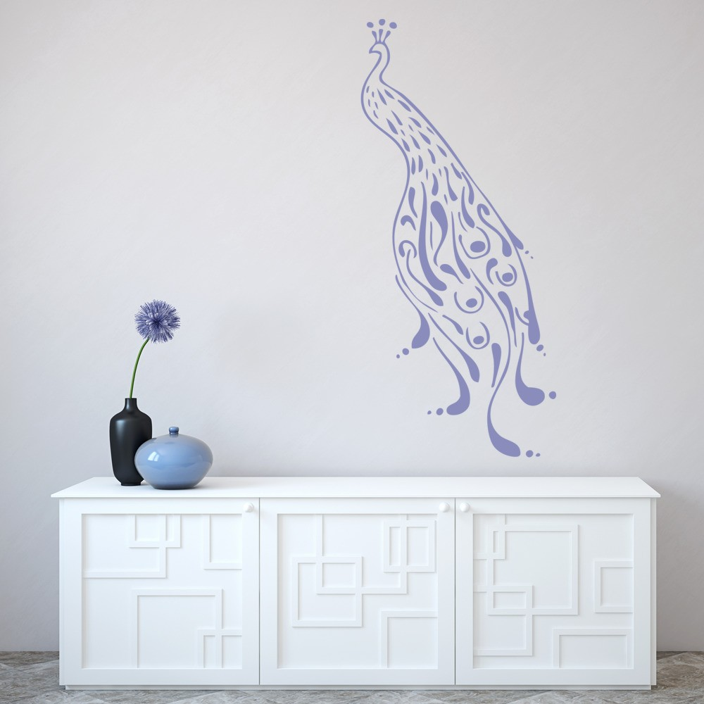 peacock profile wall sticker animal wall art peacock 3d wall stickers