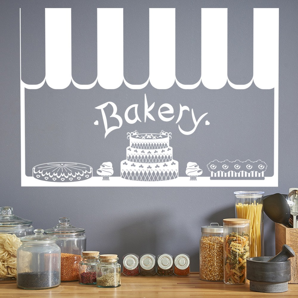 Kitchen Decor Stores: Bakery Front Shop Canopy Food Quotes & Slogans Wall