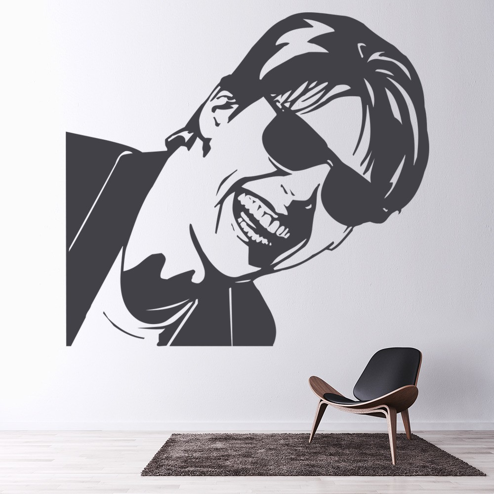 tom cruise close up wall sticker icon wall art. Black Bedroom Furniture Sets. Home Design Ideas