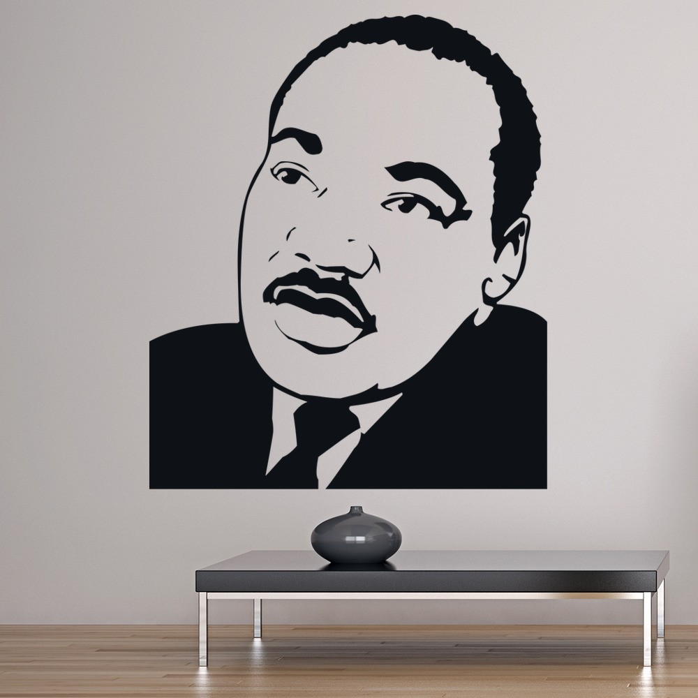 martin luther king wall sticker icon wall art. Black Bedroom Furniture Sets. Home Design Ideas