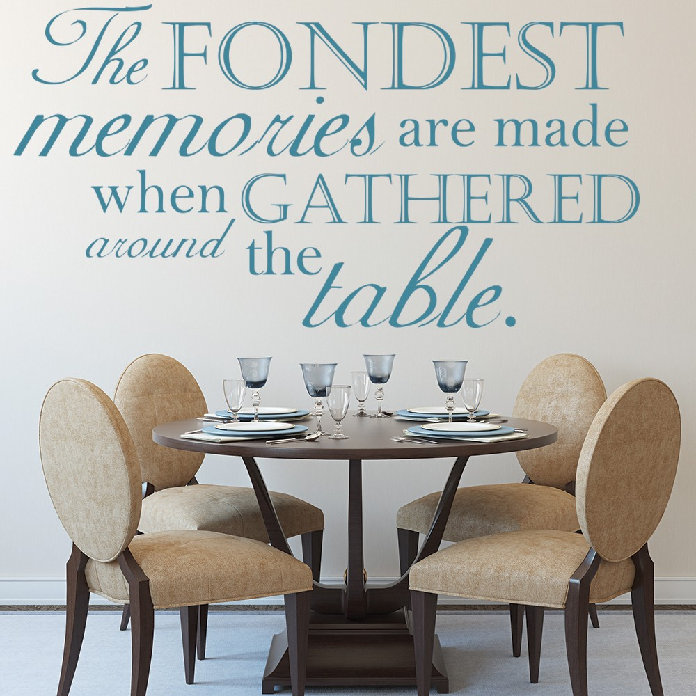 The fondest memories family quote wall sticker kitchen for Dining room wall quote decals