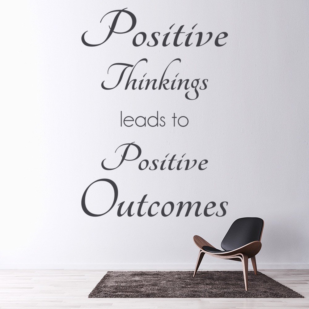 Positive Thinkings Inspirational Quotes Wall Sticker Home ...
