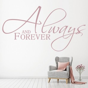 Forever romantic inspirational love quotes wall stickers art decals