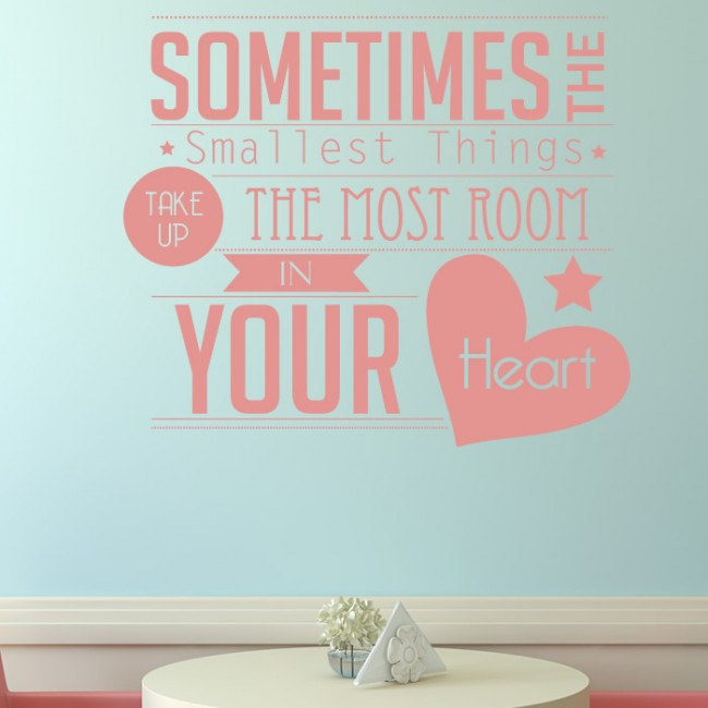 Sometimes the Smallest Things Wall Sticker