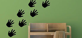 Hand Prints Wall Sticker
