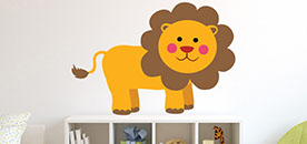 Cartoon Baby Lion Wall Sticker