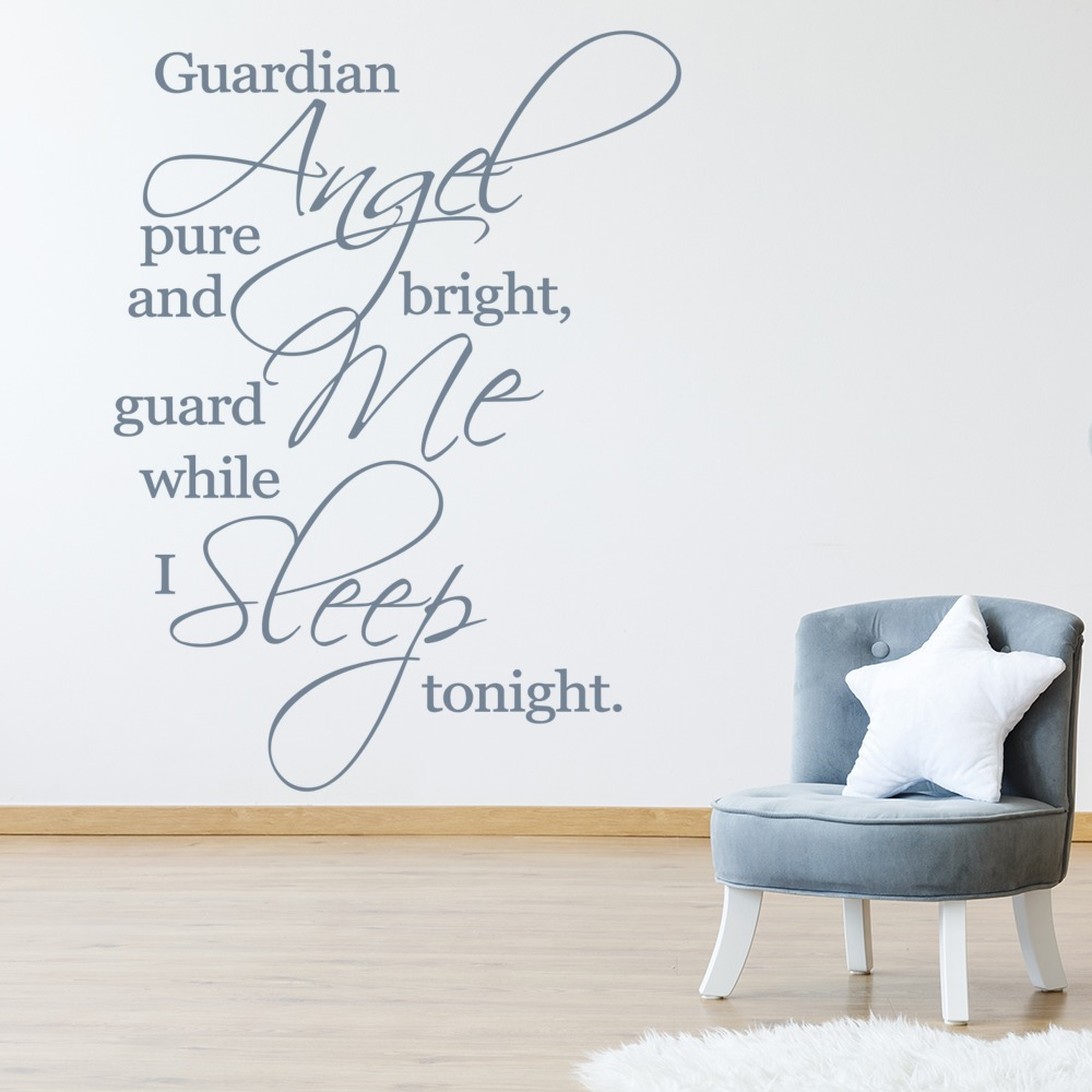 Guardian Angel Pure And Bright Wall Sticker Religious Wall Art