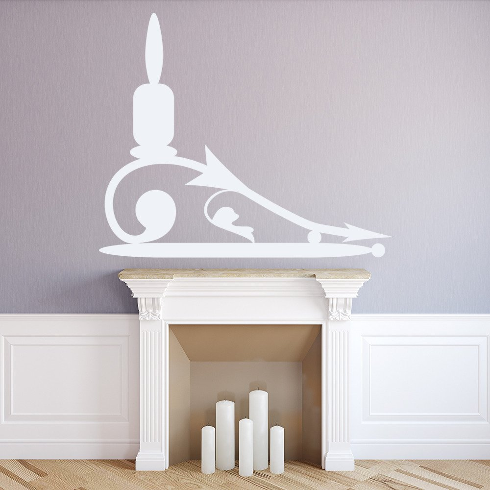Single Tier Floor Standing Candle Stick Holder Wall Stickers Art Decal